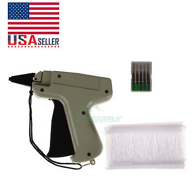 "Clothes Garment Price Label Tagging Tag Gun 3""1000 Barbs + 5 Needles US STOCK"