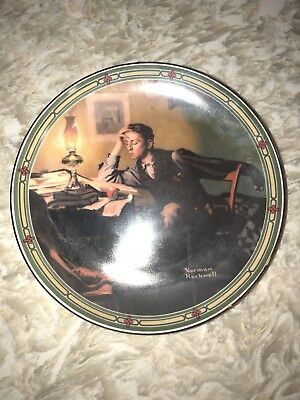 Knowles A Young Man's Dream Norman Rockwell American Dream 1986 #5 China Plate