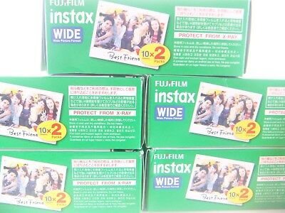 5 x FUJI INSTAX WIDE FILM 20 PACK FOR 200, 210 & 300 By 1st CLASS ROYAL MAIL