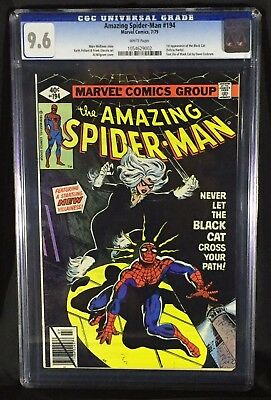 Amazing Spider-Man 194 (CGC 9.6) 1st Black Cat, White pages!