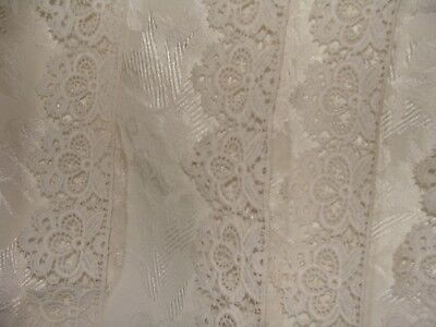 """never used French antique lace 2 1/4"""" widest part 9 3/4 yards,snow white"""