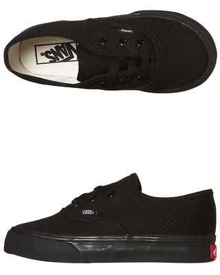 New Vans Boys Tots Authentic Shoe Lace Soft Black