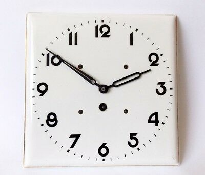 Vintage Art Deco style 1960s Ceramic Kitchen Wall clock  Made in Germany