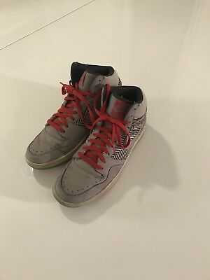 Nike Court Force Uk 9 Air Max One Eu 44  High Tops Red Grey