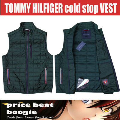 Tommy Hilfiger NWT Men's Green Cold Stop Puffer Vest MSRP $99 + Free Shipping