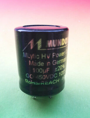 MUNDORF MLYTIC 100µf 450 VDC for Amplifier / Verstärker