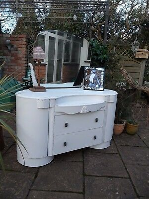 Vintage Painted 'Gatsby' Art Deco Dressing Table Lovely Interior Shabby Chic