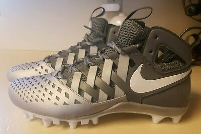 Nike Huarache ELITE V MENS LACROSSE FOOTBALL CLEATS SIZE 9.5 D GRAY/SILVER