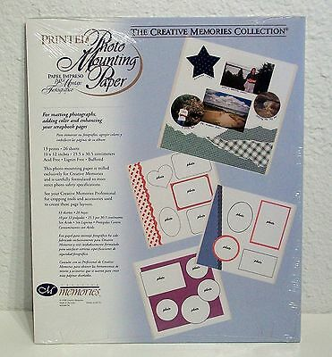 NIP! Creative Memories PRINTED Photo Mounting Paper