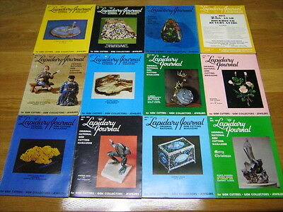 Lapidary Journal, 12 Issues, 1971