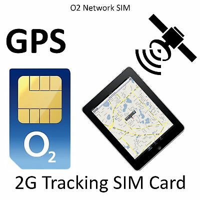 2G Sim Card for GPS Tracker Tracking GSM Device 5p per MB on O2 Pay as you go