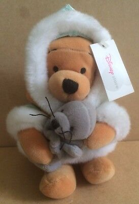 Walt Disney Store Exclusive Eskimo Winnie The Pooh With Seal Beanie With Tags