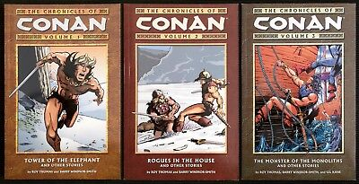 The Chronicles of Conan: Volume 1/2/3 1st Prints Out of Print Windsor Smith run
