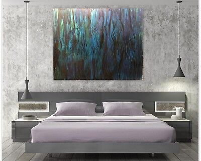 Sea Abstract Original Art Paintings Acrylic Huge 60 inches x 48 by Gerson