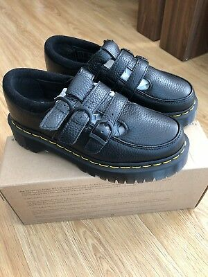 Dr Martens Freya Black Suede Leather Size 4 BNIB Alternative Punk Shoes
