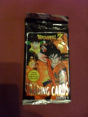 BNIP Dragonball Z Trading Cards Series 1 packet of cards in EC