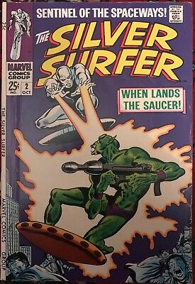 The Silver Surfer #2 'When Lands the Saucer!' Stan Lee and Steve Buscema