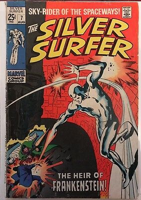 The Silver Surfer #7 'The Heir Of Frankenstein' Stan Lee and Steve Buscema