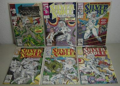 Silver Sable # 1 2 3 4 5 6 NM 9.4 1st Silver Sable Series High Grade Lot $19+