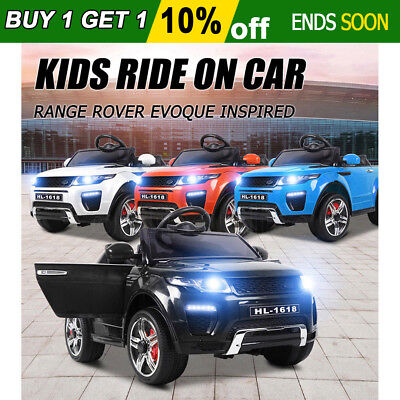 JOLLYKIDDY Kids Ride On Car Electric Range Rover Evoque Inspired Toy Remote 12V