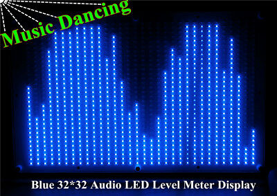 32*32 LED Audio Digital Level Meter Display Spectrum Analyzer Modul Verstärker