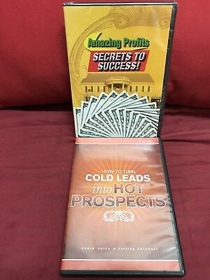 Amazing Profits Secrets New Sealed Dvd + Cold Leads Hot Prospects Free Shipping