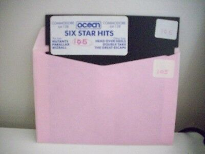 Ocean - Six Star Hits  -  Floppy Disc For Commodore 64 / 128 Vintage - 6 Games