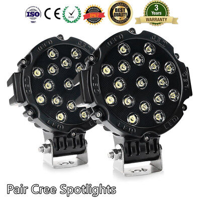 7 inch Cree Round Spot LED Driving Work Light Spotlights Lamp F Off-Road 4WD 4x4