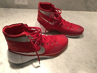 New Women's 14.5 Men's ~13 Nike HYPERDUNK 2015 Basketball Shoes Red White Silver