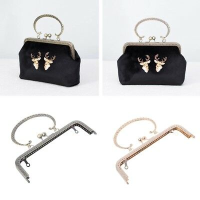 20x12cm DIY Metal Frame Kiss Clasp Lock For Sewing Handbag Purse Coin Bag Tool