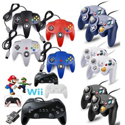 Wired Game Classic Controller For GameCube NGC Wii / Wii U / N64 / SNES