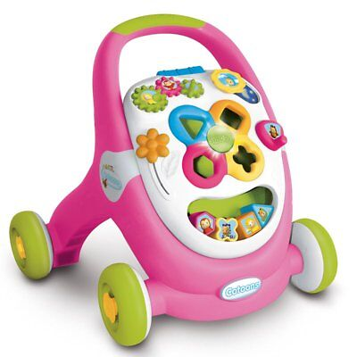 Smoby Cotoons 2-in-1 Activity Walker Baby Toddler Push Stroller Pink 110304