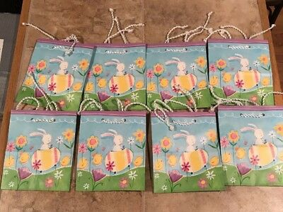 New lot 2 hallmark easter gift bags by schulz peanuts snoopy medium new lot of 8 hallmark holiday smallmedium gift bags easter bunny eggs flowers negle Choice Image
