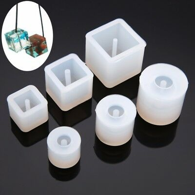 6 x Silicone Beads Mold Bracelet Pendant Jewelry Making Mold Resin Craft  Tool