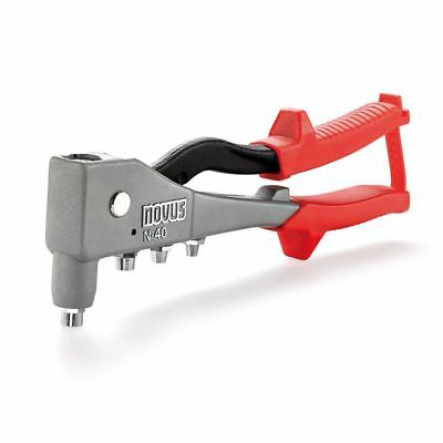 Novus Pop Rivet Gun Riveting Tool Heavy Duty Riveter N-40 Grey and Red 5 mm