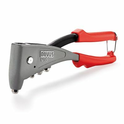 Novus Pop Rivet Gun Riveting Tool Heavy Duty Riveter N-30 Grey and Red 5 mm