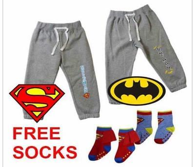 Baby track pant with socks in Batman, Superman
