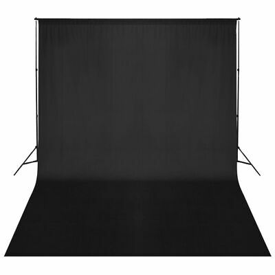 vidaXL Backdrop Support System 500x300cm Black Photography Studio Background