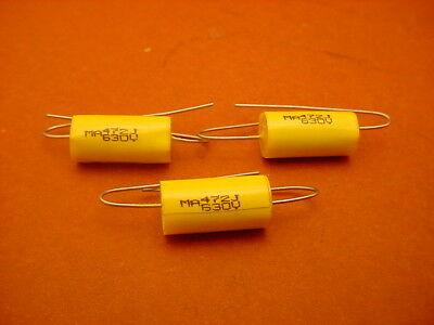 20 x 0.0047 uF / 630 VOLT POLYESTER AXIAL CAPACITOR * NEW STOCK * 5% TOL. *