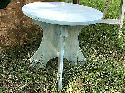 Vintage Wood Child's Chair Step Foot Stool