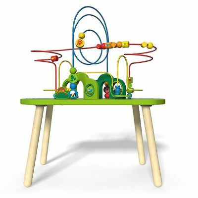 Hape Children Kids Wooden Jungle Play and Train Activity Table Game Toy E3801