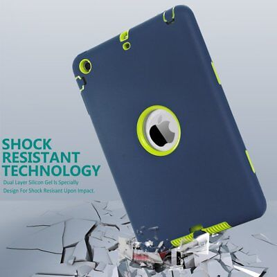 3in1 Anti-slip Hybrid Protective Heavy Duty Shockproof Case for iPad MIni 1/2/3