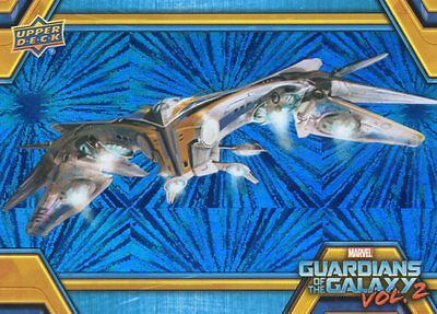 2017 Walmart Guardians of the Galaxy Vol 2; The Milano Blue Foil Chase RB-42