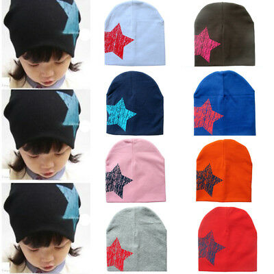 Cute Toddler Kids Girl&Boy Baby Infant Cotton Winter Warm Star Hat Beanie Cap