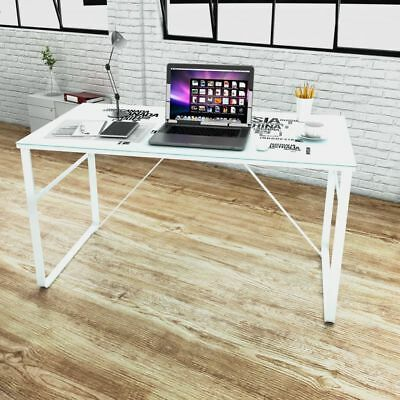 Modern Computer Desk Rectangular Study Office Laptop Glass Table w/ Map Printing