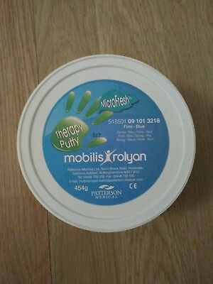 BNIB Mobilis Rolyan Blue Therapy Putty Firm Resistance 454 g
