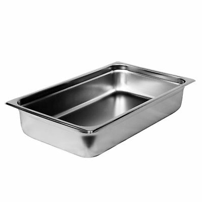 "Steam Table Pan Full Size 4"" Deep with Cover Lid Stainless Steel Catering Buffet"