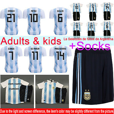 2018 World Cup Jerseys Football Short Sleeve Soccer Suits Mens Adults Kids Youth