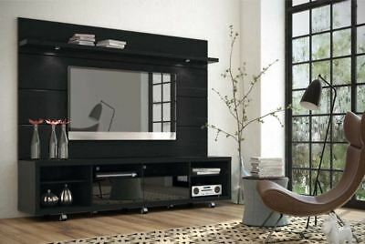Entertainment Center Modern TV Stand Media Console Wall Mounted Furniture  Black