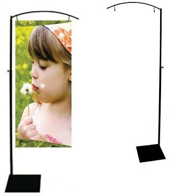 Banner Stand, Lynch Sign Stylish Telescoping Pole, Holds One Banner 20 in. Wide